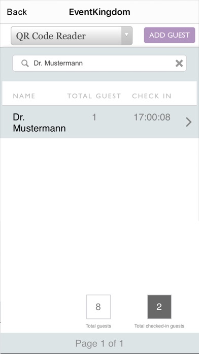 EventKingdom - QR Code Reader screenshot