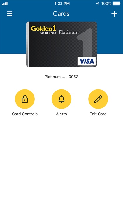 Golden 1 Card Controls By Golden 1 Credit Union