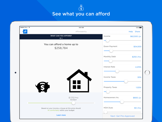 Mortgage by Zillow-ipad-1