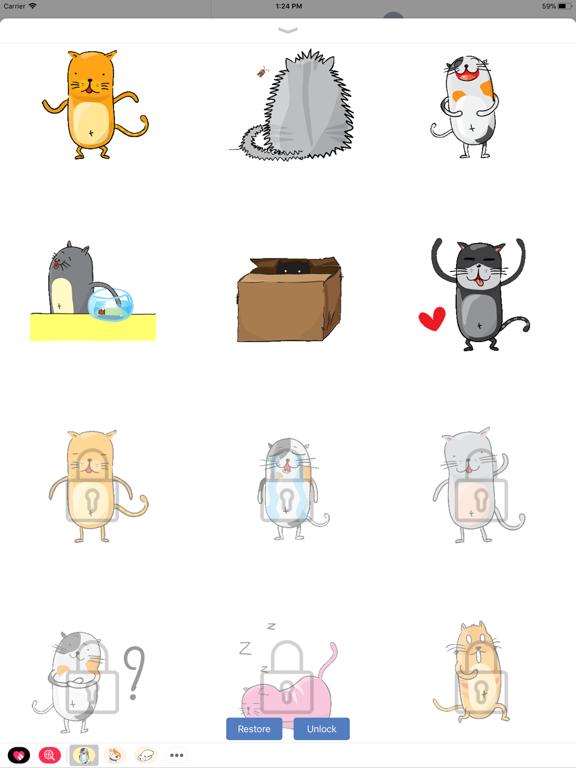 Ipad Screen Shot Funny Neko Cat Animated 2