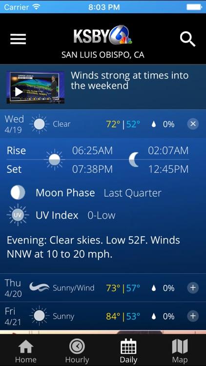 KSBY Microclimate Forecast screenshot-3