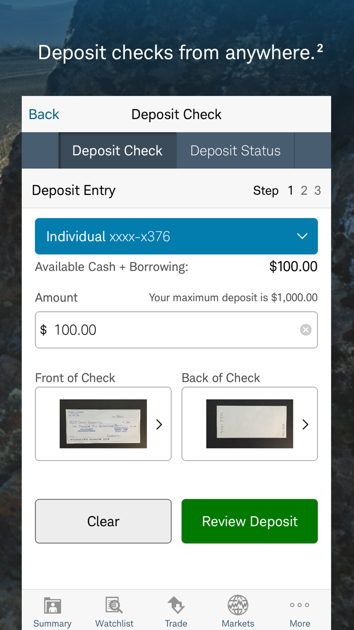 Schwab Mobile Screenshot