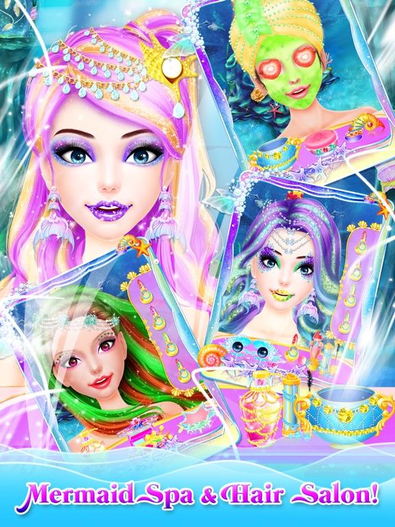 Screenshot #2 for Mermaid Princess Makeup Makeover - Princess Games!