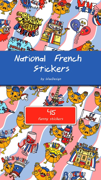 National French Stickers