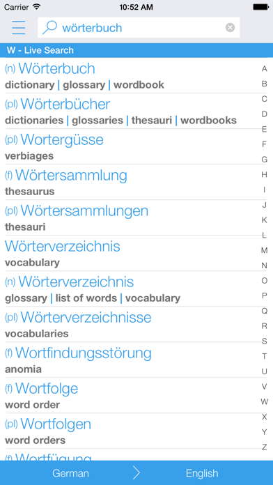 Dictionary German English