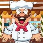 chefe fogão funcionando após os vegetais para cozinhar o molho secreto - edição gratuita icon