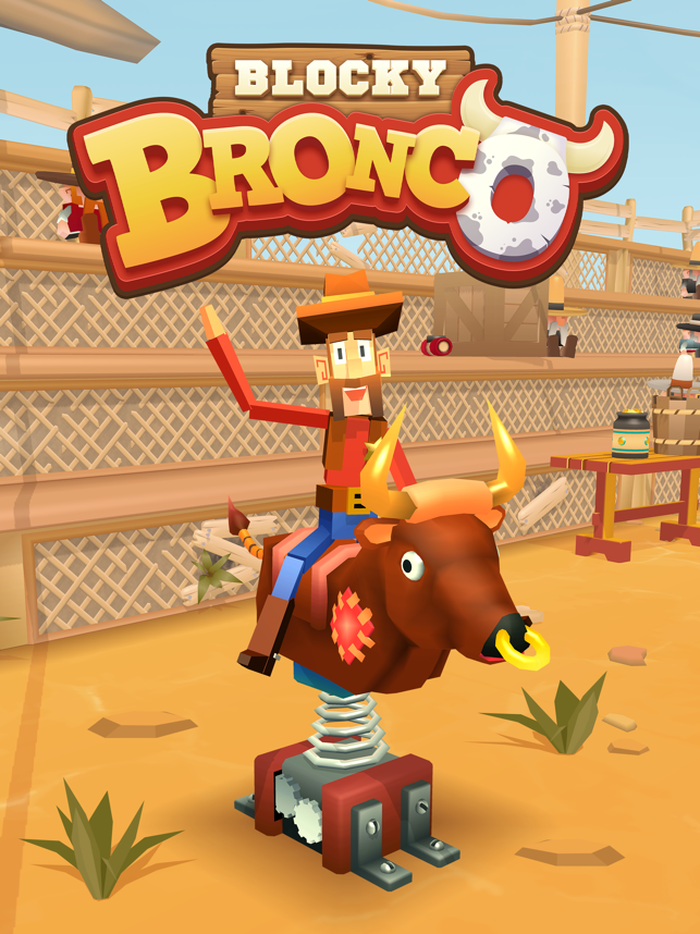 Blocky Bronco, game for IOS