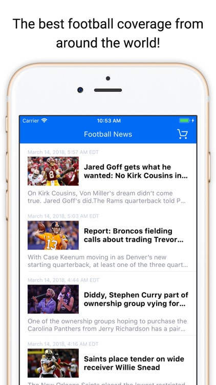 Touchdown News for NFL & CFB
