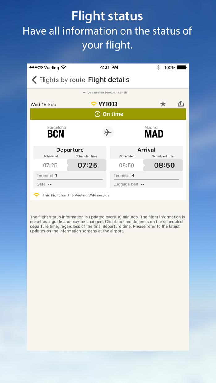 Vueling Airlines-Cheap Flights Screenshot