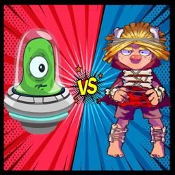Caveman VS Aliens Robots