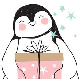 Cute Christmas Animal Stickers