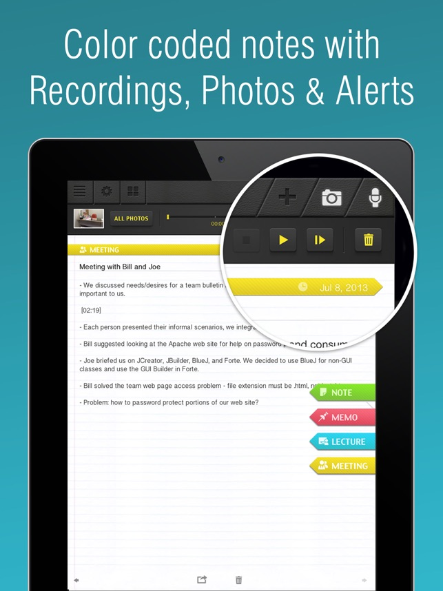 SuperNote Notes RecorderPhoto on the App