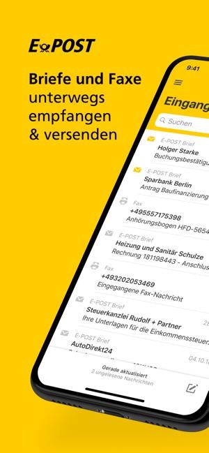 E Post Briefe Und Faxe Im App Store