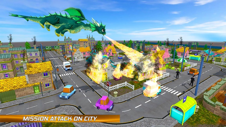 Flying Dragon Fire City Attack screenshot-3