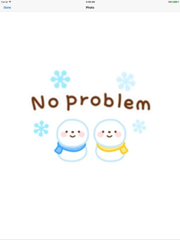 Cute Snowman Emoji Sticker screenshot 5