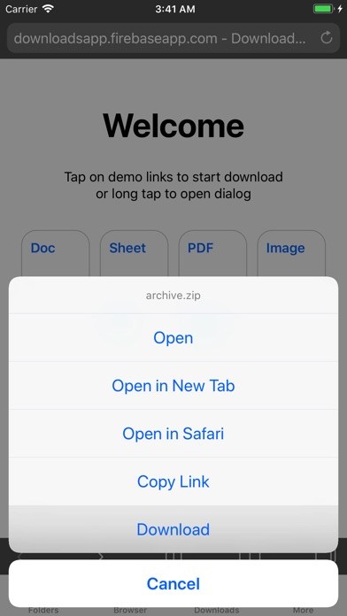 Browser and Documents Manager app image