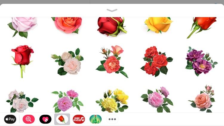 Romantic Roses Lovely Sticker screenshot-3