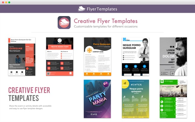 Web Flyer Template | Flyer Templates Design By Ca On The Mac App Store