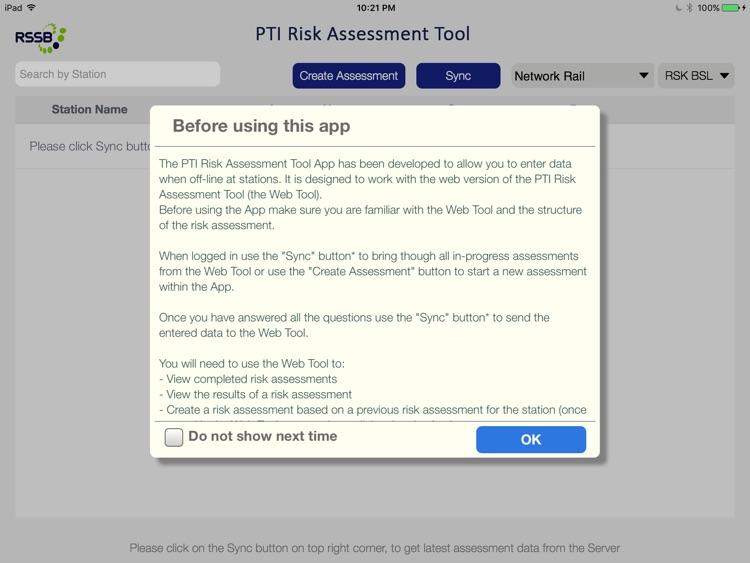 PTI Risk Assessment Tool