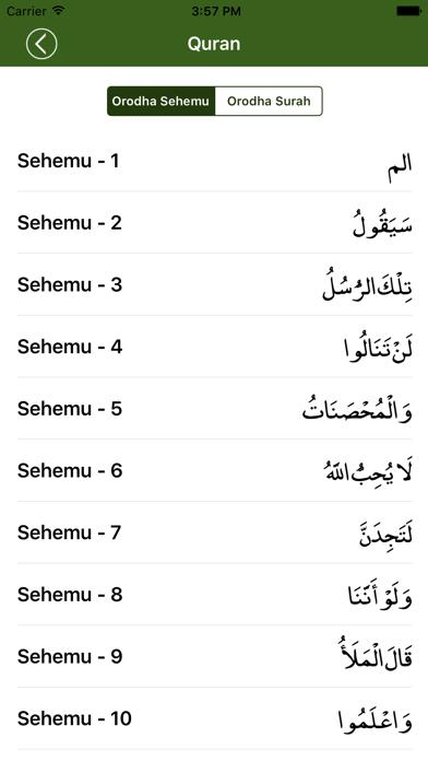 Quran in Swahili screenshot two