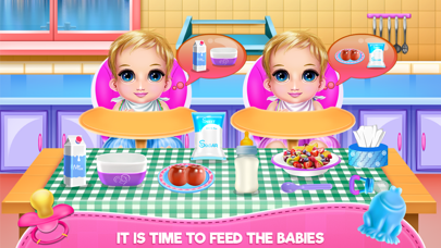 New Born Twins Caring Screenshot