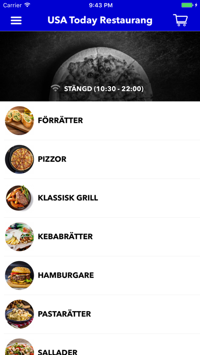 USA Today Restaurang Screenshot