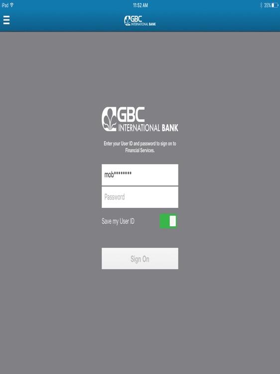 GBC Int'l Bank for iPad