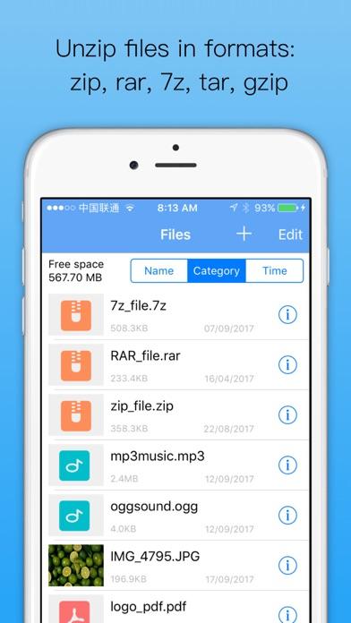 Herunterladen Unzip:Datei zip,rar,7z öffnen für Pc