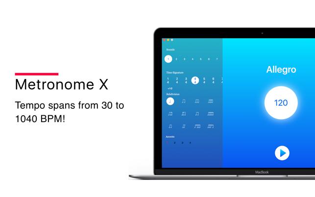 Metronome X on the Mac App Store