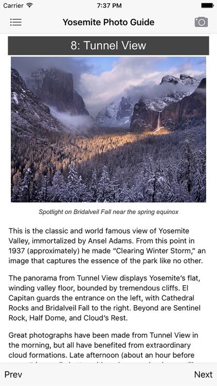 Yosemite Photographer's Guide screenshot-4