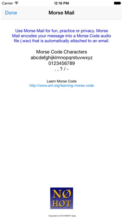 Morse Email screenshot-3