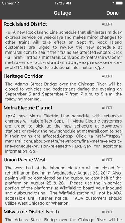onTime Metra, CTA screenshot-3