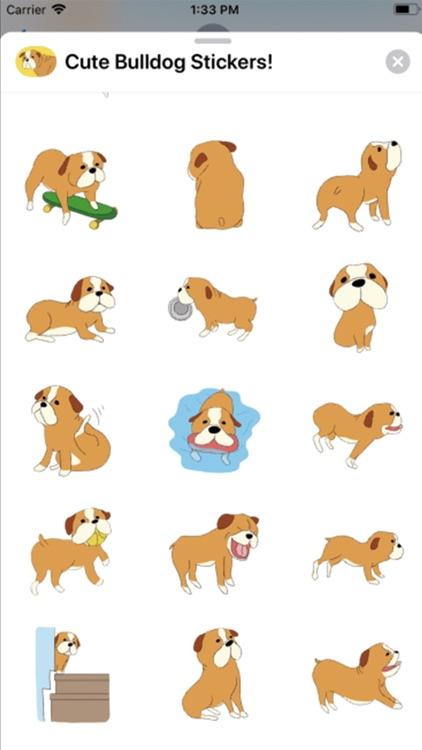 Cute Bulldog Stickers !