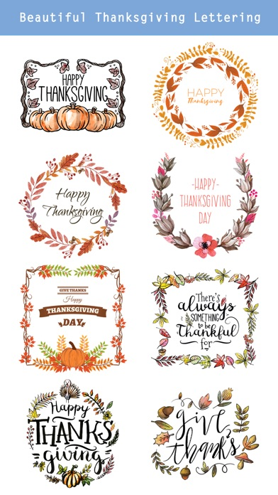 Thanksgiving Watercolor Set screenshot 3