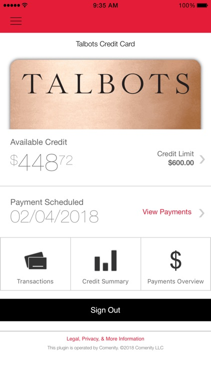 Talbots Credit Card App screenshot-0