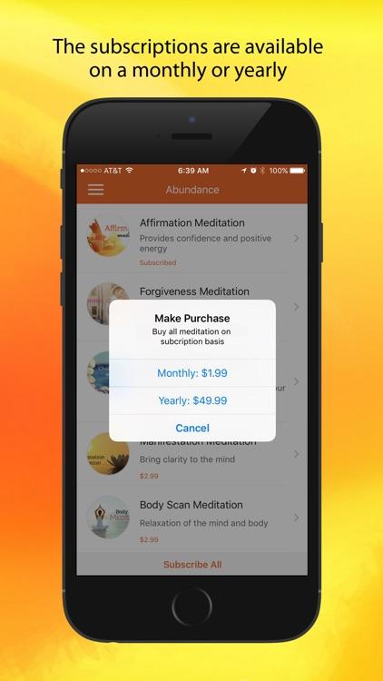 Abundance: A Meditation App screenshot-4