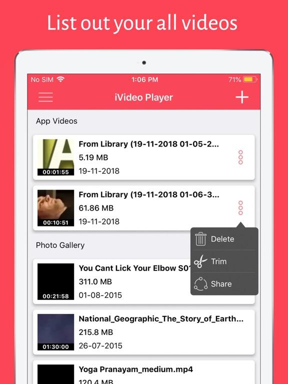 iVideo Player HD PRO Screenshots