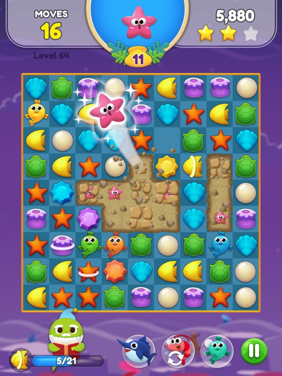 Baby Shark Match: Ocean Jam screenshot 14