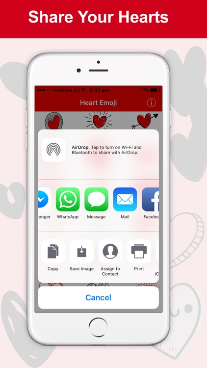 Heart Emoji - Cute Heart Stickers screenshot-3