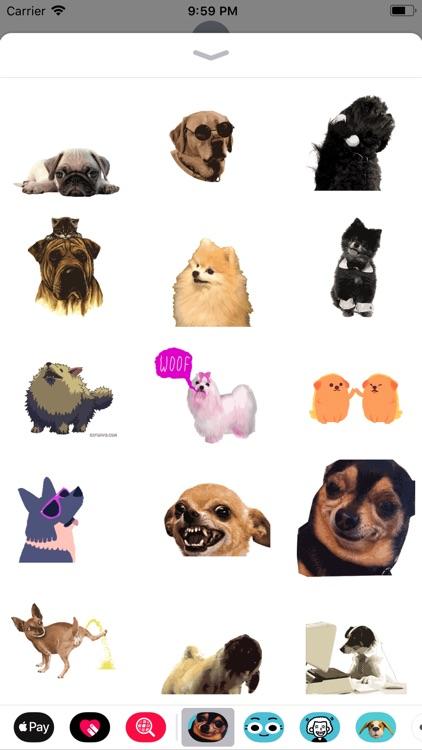 dog sticker animated