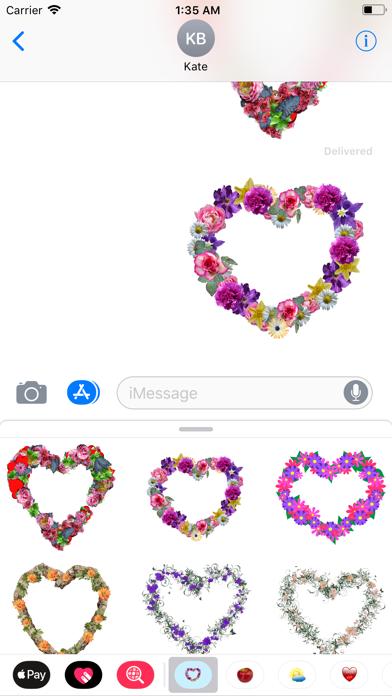 Floral Hearts Sticker Pack screenshot four