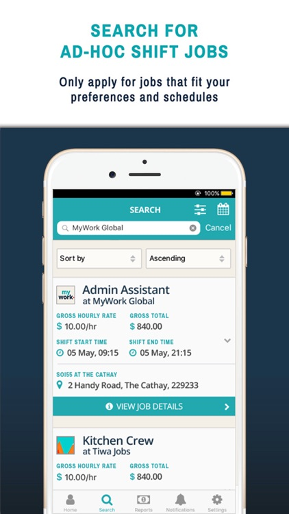 On demand jobs app