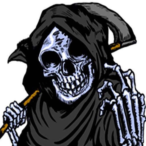 Skull Death Stickers