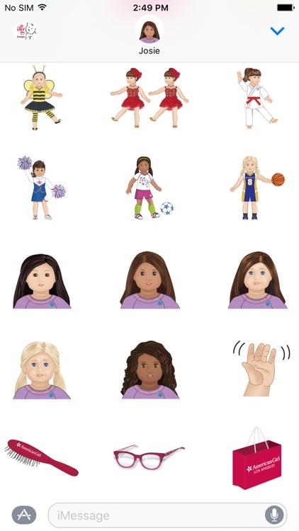 American Girl™ Emoji screenshot-4