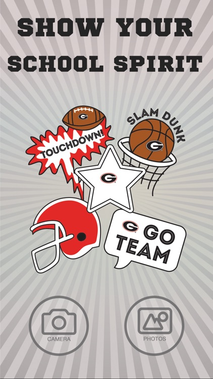 Georgia Bulldogs Selfie Stickers