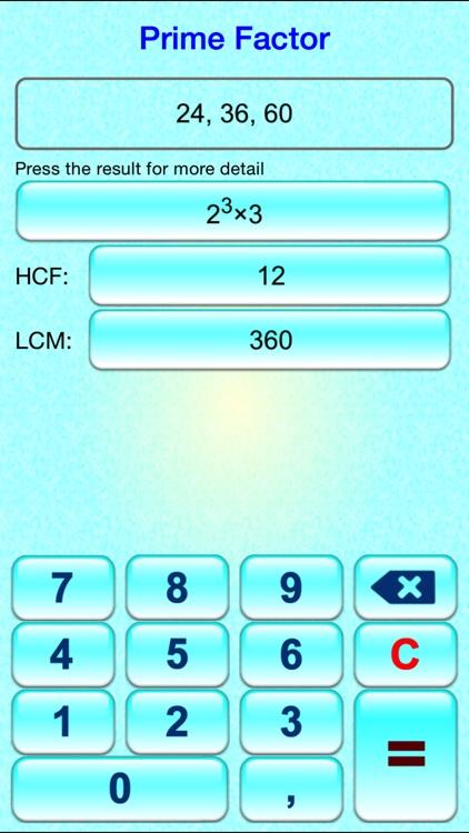 Math Tool - Prime Factor