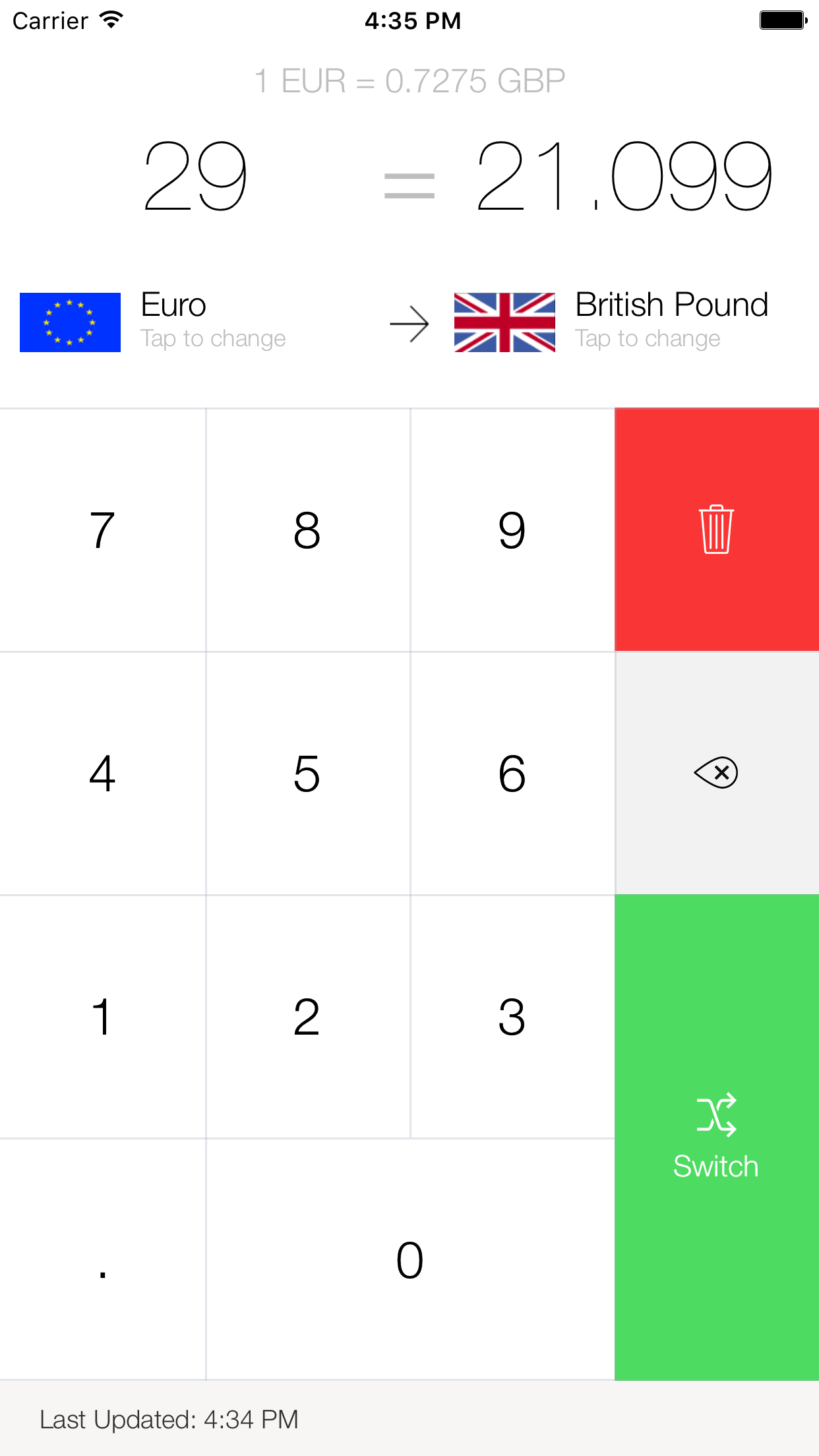 My Currency Converter & Rates Screenshot