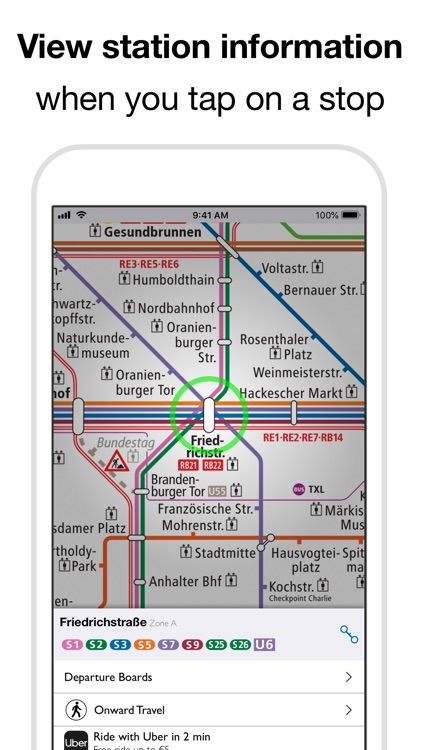 Berlin Subway: BVG U-Bahn map screenshot-3