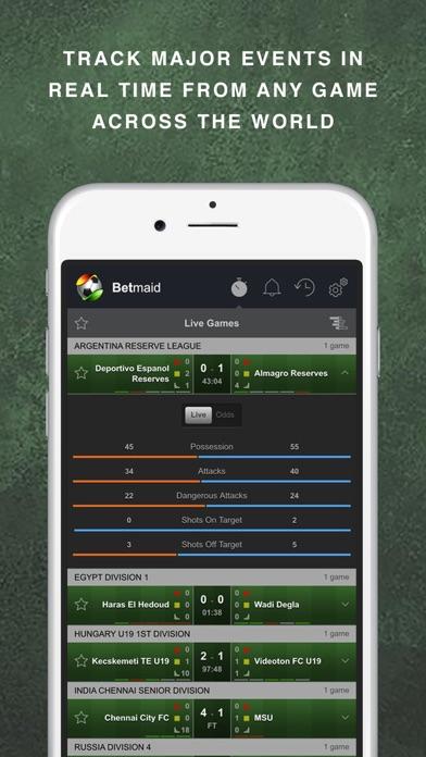 Betmaid: Football Stat Alertsスクリーンショット