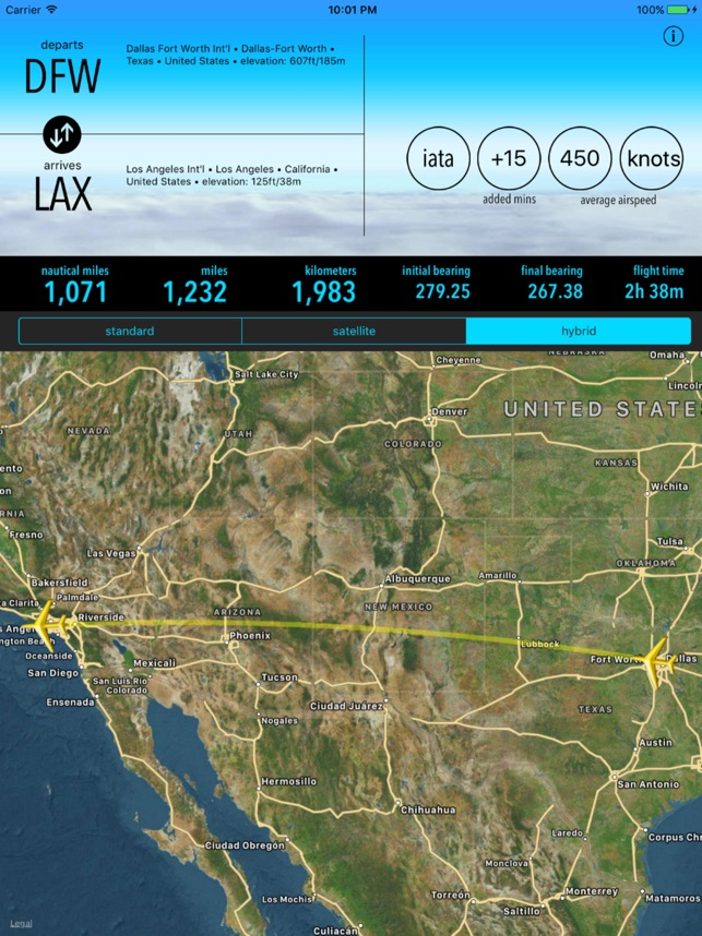 Airport Distance Lite on the App